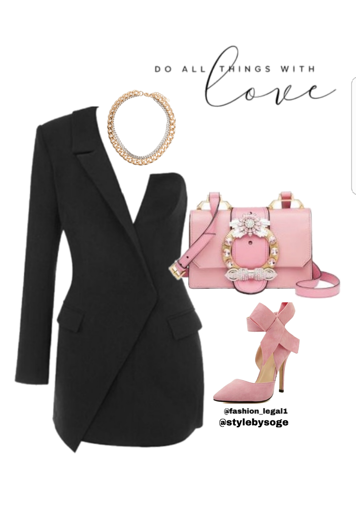 7b9bd14fc703 Style Inspiration: Blazer Dress – Stylebysoge Stylebysoge – We style your  looks Double breasted blazer jacket Follow @styleby… | Women's Fashion  posts in ...