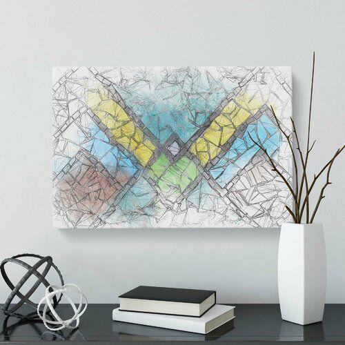 'Geometric Mosaic' Graphic Art on Wrapped Canvas Mercury Row Size: 35.6 cm H x 50.8 cm W
