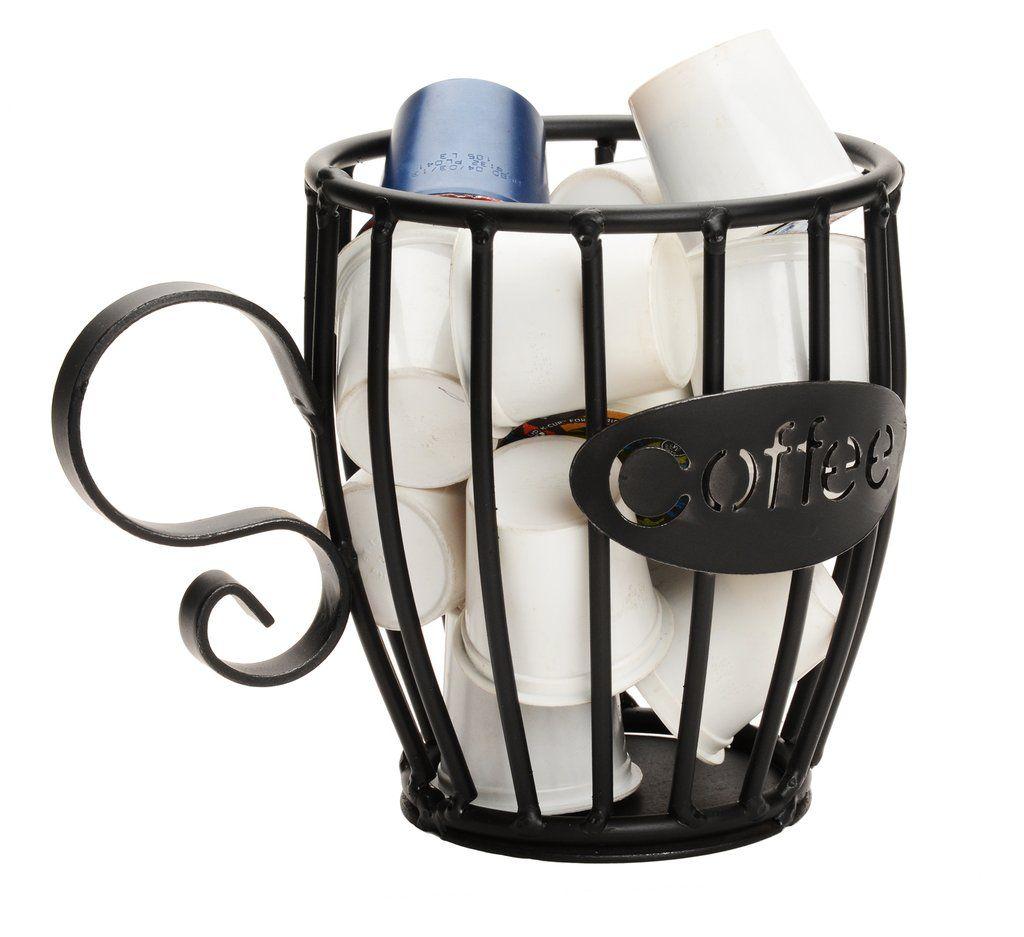 Coffee kcup holder wrought iron mug keurig pod storage