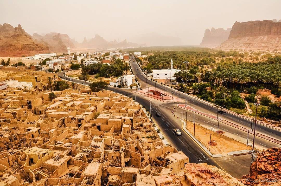 العلا إحدى مدن المملكة العربية السعودية تقع غرب الجزيرة العربية وتتبع إداريا لمنطقة منطقة المدينة المنورة وتبعد عنها تق Railroad Tracks Saudi Arabia Modern