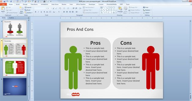 Free Pros Cons Powerpoint Template Free Powerpoint Templates Slidehunter Com Powerpoint Powerpoint Templates Powerpoint Template Free