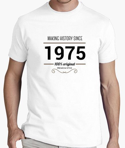 Camiseta Making history 1975 black text available from 1964 to 1999 if you want other year just tell me #tees #tshirt #vintage #retro #…