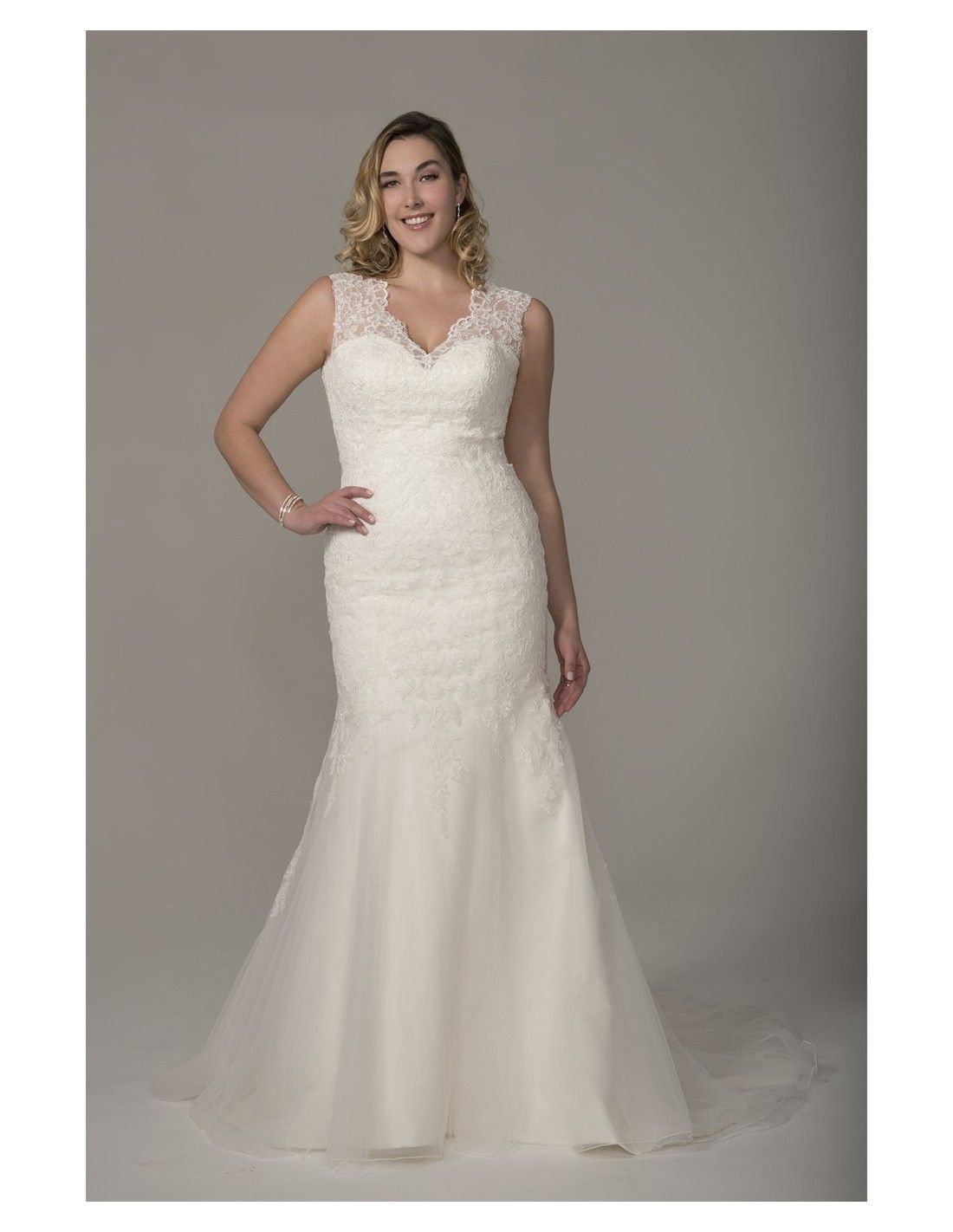 Classic lace fit n flare available at Spotlight Formal Wear! #SpotlightBridal
