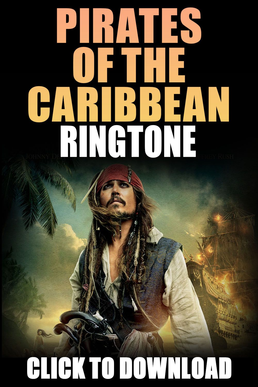 Pirates Of The Caribbean Ringtone For Your Iphone In 2020 Pirates Of The Caribbean Caribbean Pirates