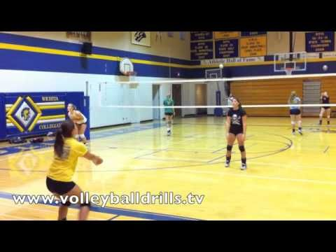 Volleyball Pass To Yourself Set To Your Partner Coaching Volleyball Volleyball Volleyball Drills