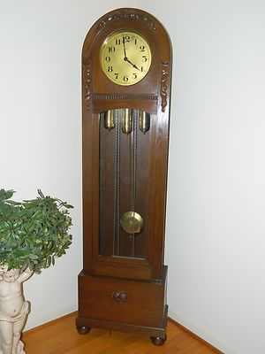Antique Dufa Longcase Grandfather Clock Westminster Chime