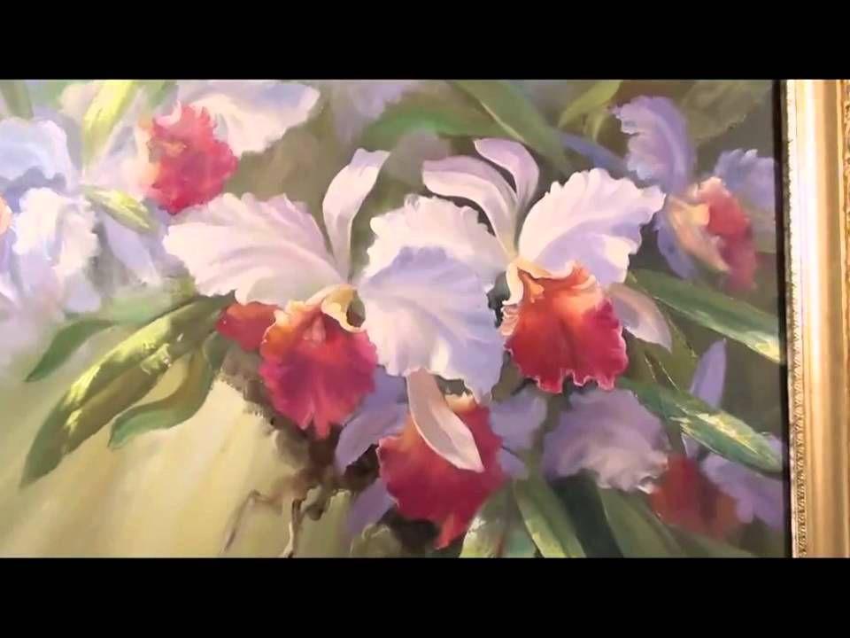 Igor sakharov les le ons de dessin l 39 orchid e peinture l 39 huile peinture pinterest - Dessin d orchidee ...