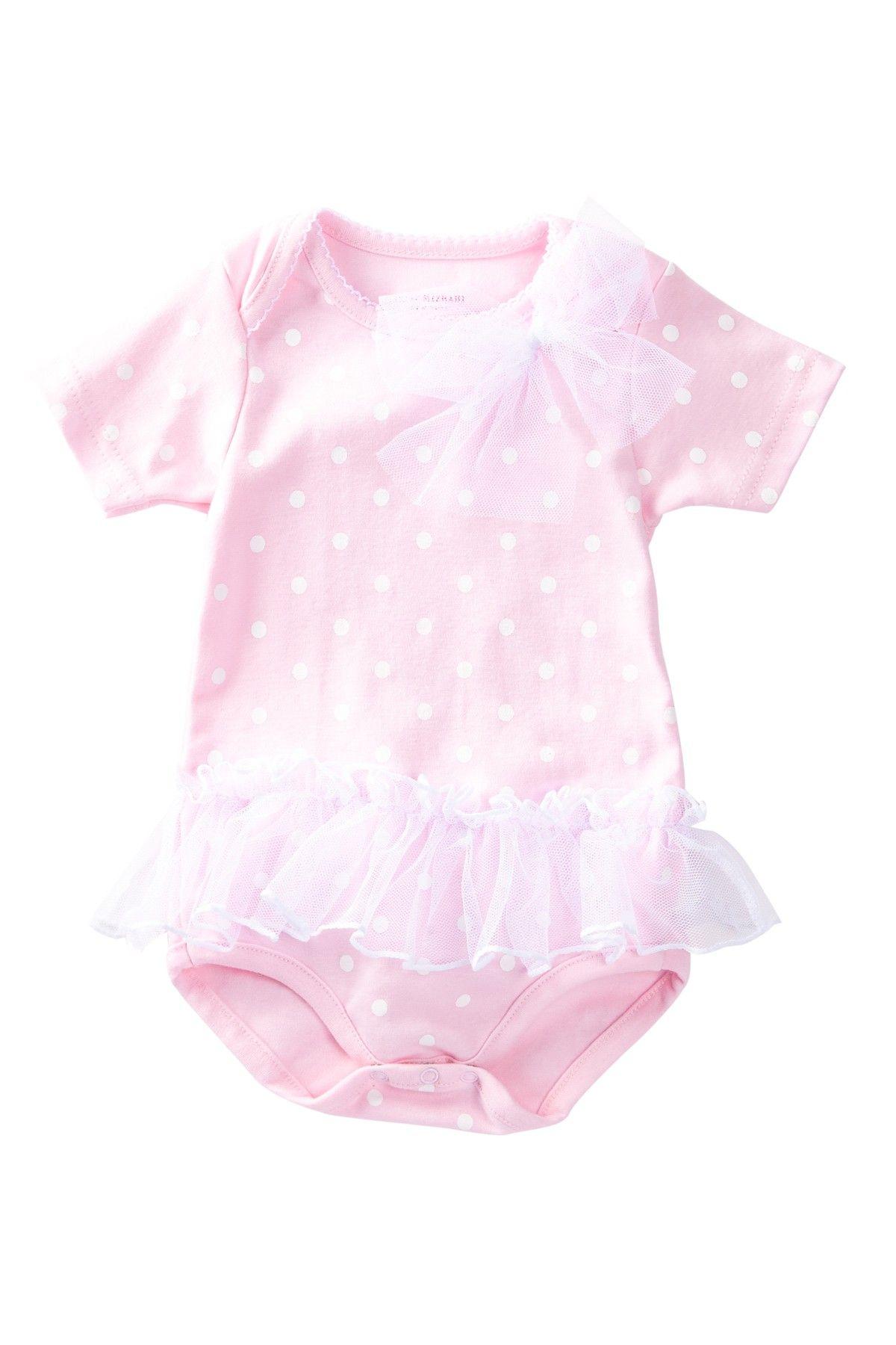 Isaac Mizrahi Polka Dot Skirted Bodysuit Baby Girls