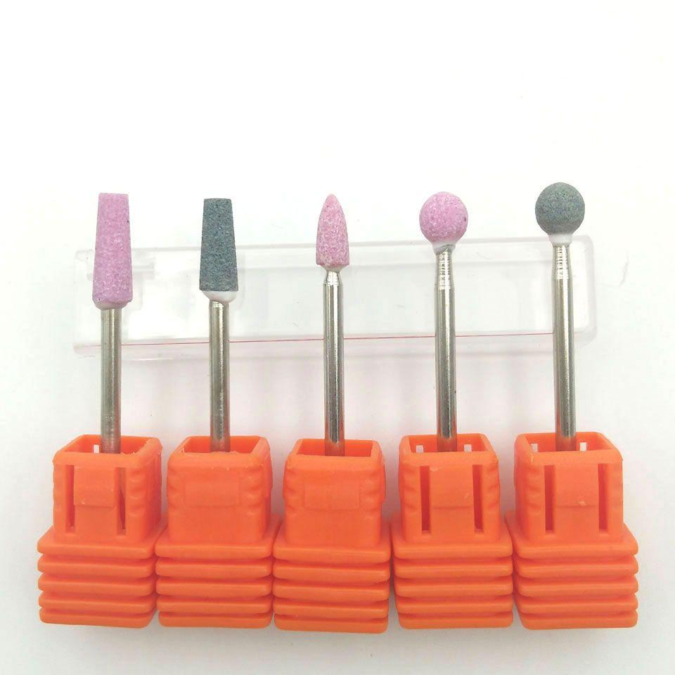 5 PCS Ceramic Stone Nail Drill Bit 3/32\