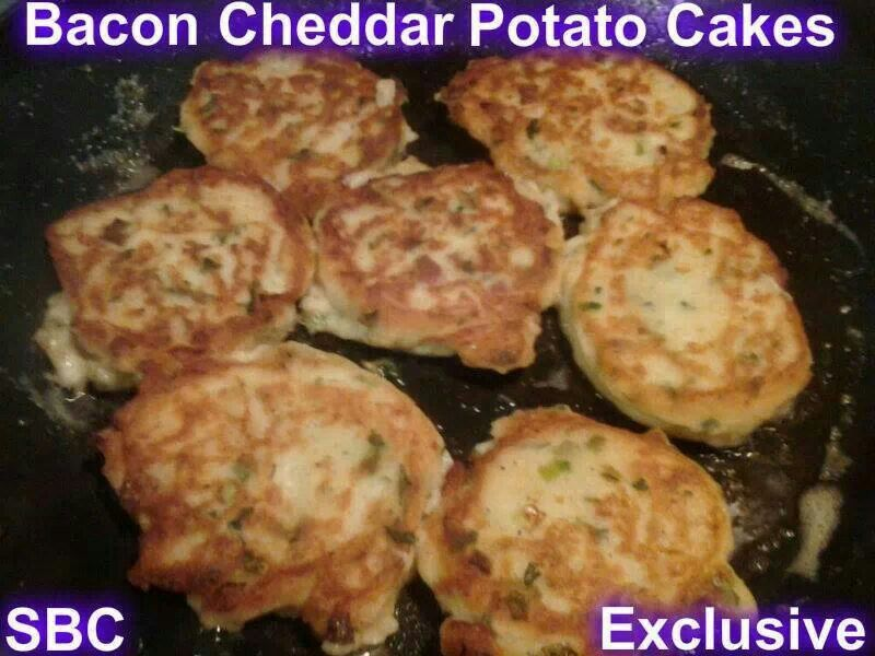 Bacon Cheddar Potato Cakes | Yummy | Pinterest