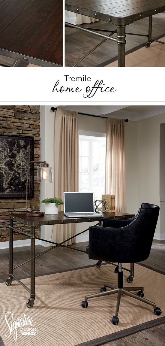 Get The Perfect Urban Look With The Tremile Home Office Ashley Furniture Ashleyfurniture Homeoffice