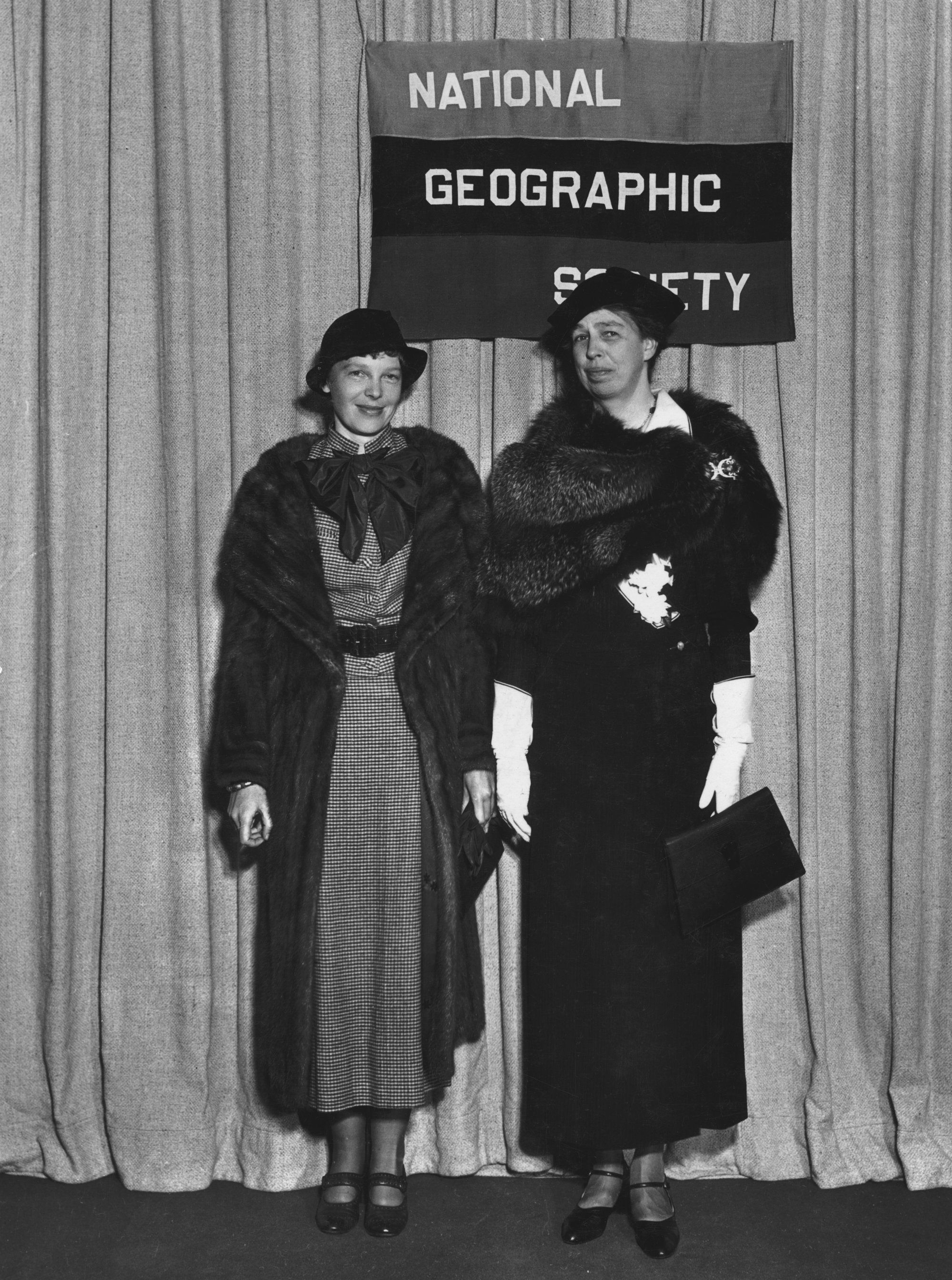 franklin and eleanor roosevelt us presidents lady amelia earhart and first lady eleanor roosevelt national geographic s offices in washington dc 1935