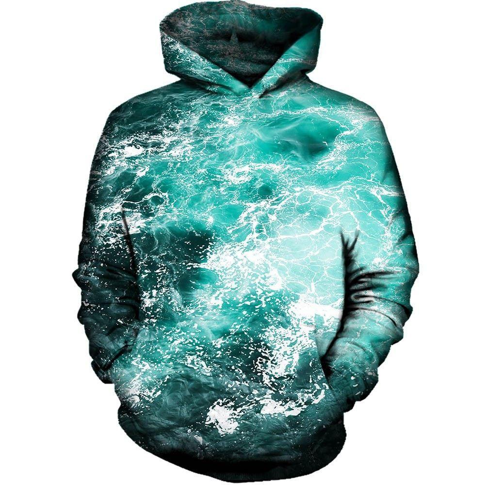 Unisex 3D Novelty Hoodies Beach,Holiday Destinations,Sweatshirts for Women Plus Size
