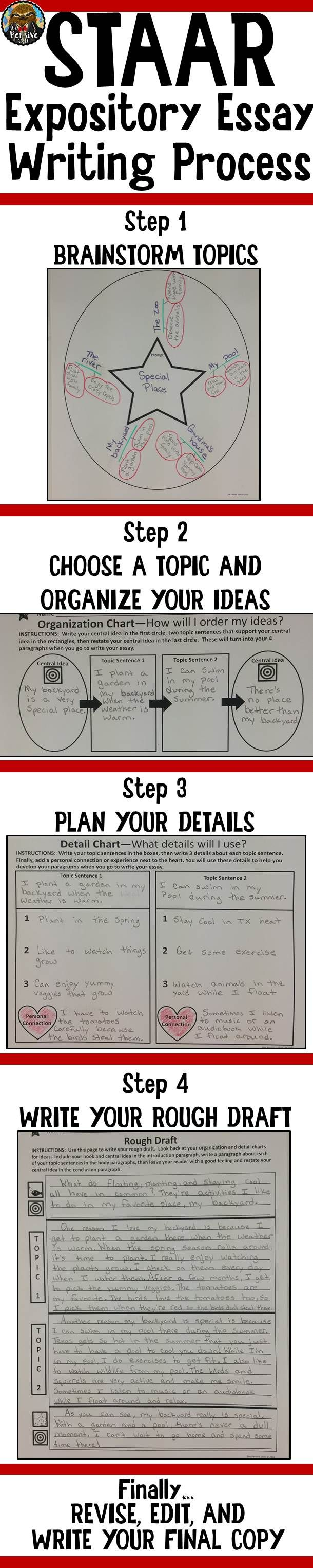Th Grade Staar WritingExpository Essay Graphic Organizers