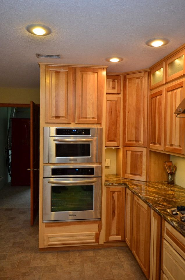This is an example of just the smaller piece of molding without the second piece. Kraftmaid Marquette Hickory Natural 04-2012