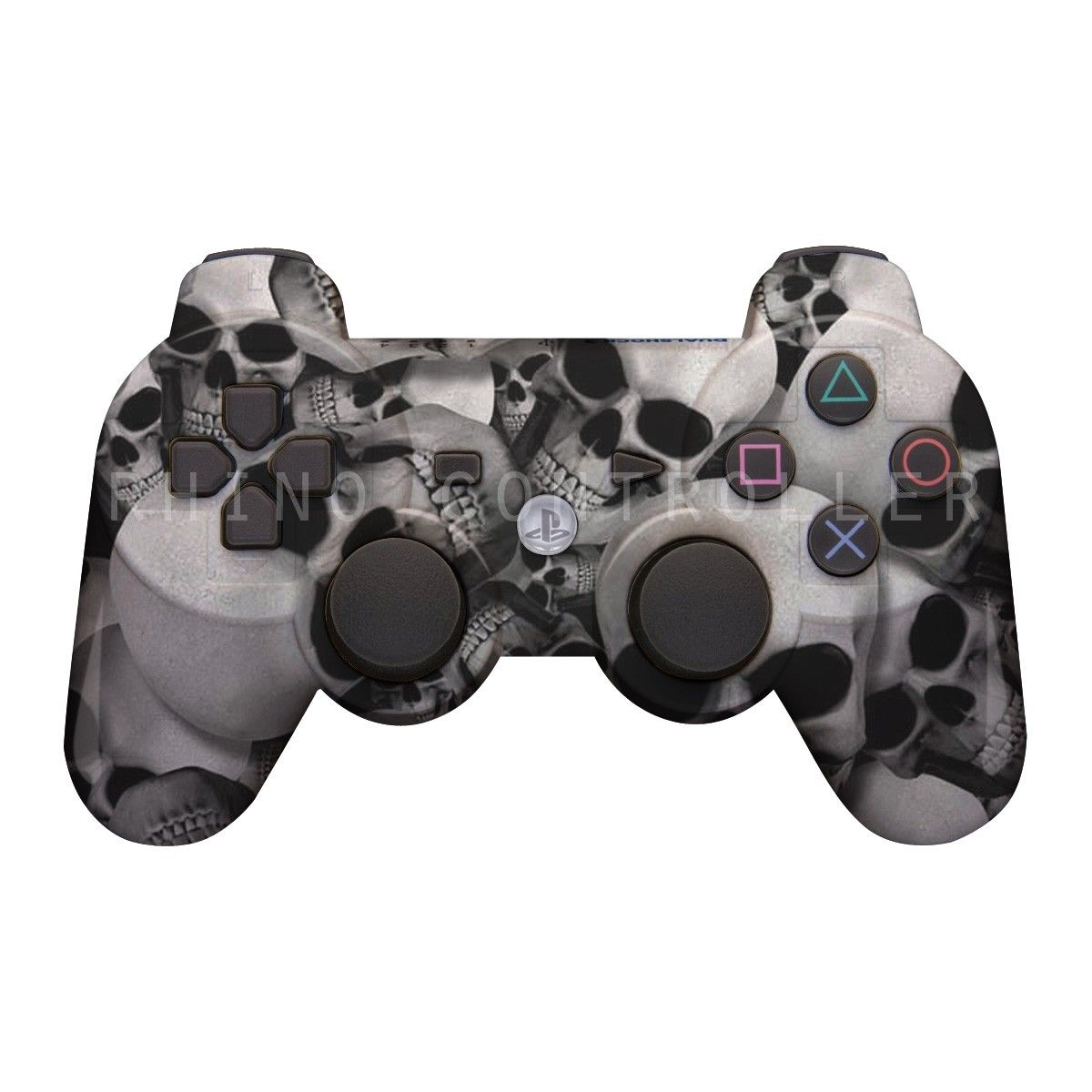 PS3 controller  Wireless Glossy  WTP-445-Skullz Custom Painted- Without Mods