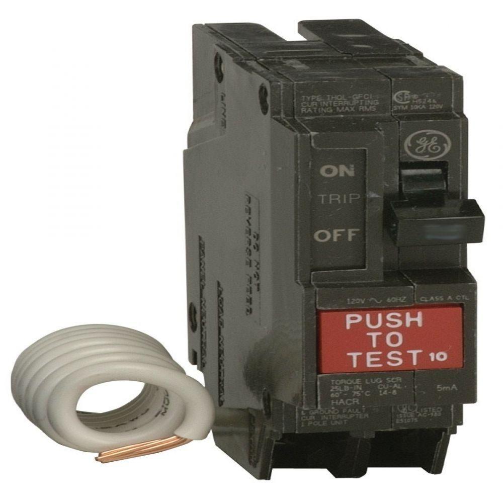 Q-Line 20-Amp Single Pole Ground Fault Circuit Breaker | Circuits ...