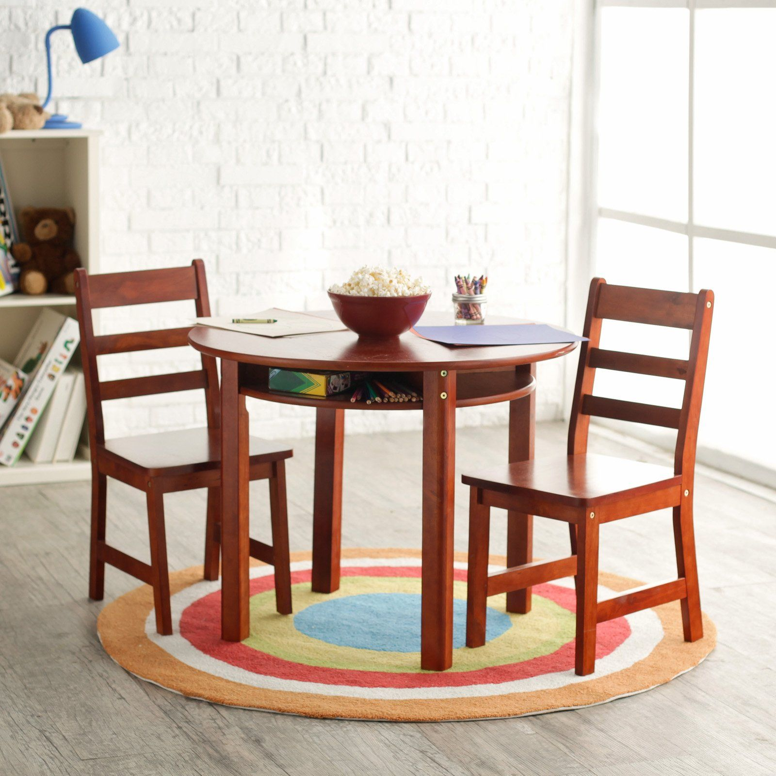 Lipper Childrens Round Table and Chair Set - $126.98 @hayneedle & Have to have it. Lipper Childrens Round Table and Chair Set ...