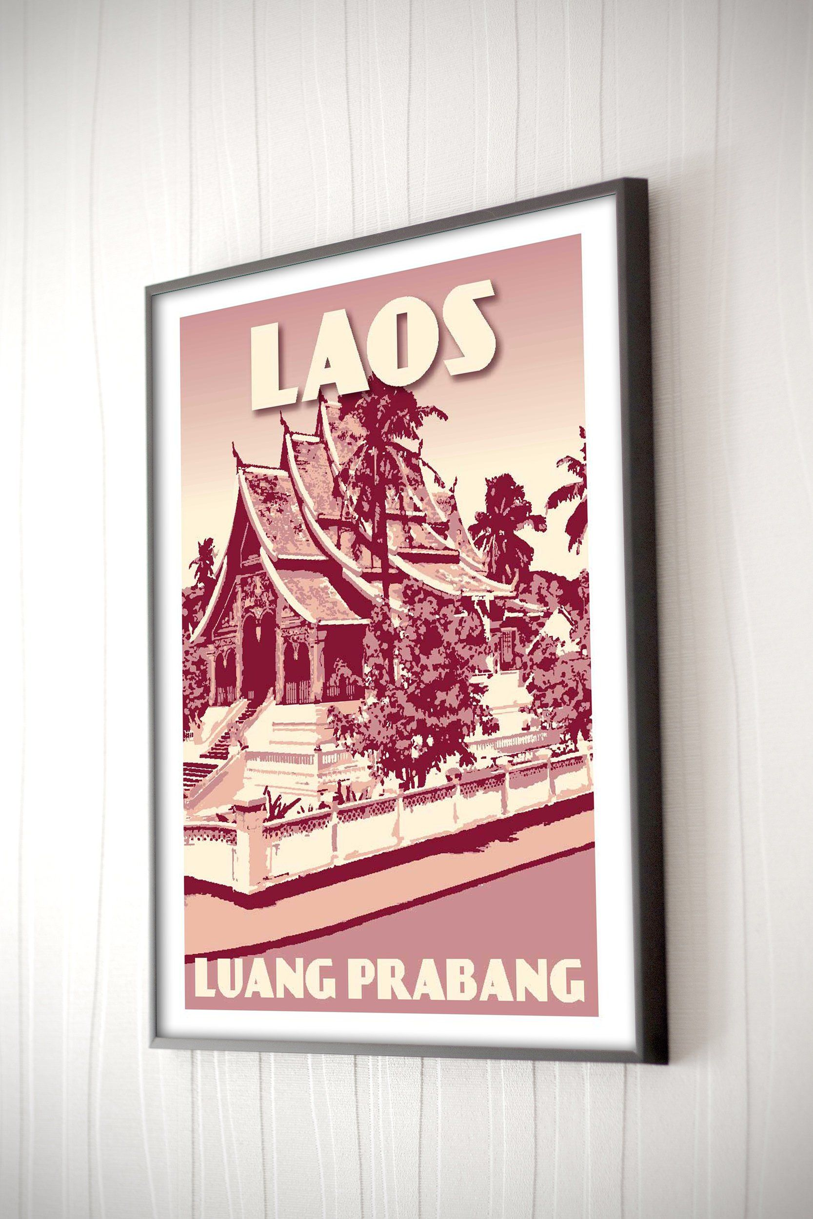 Pin On Laos Vintage Posters Art Prints