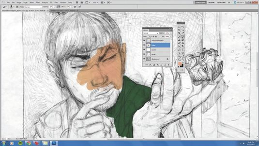 American illustrator tony foti explains how to create a transparent copy of a paper sketch to paint under