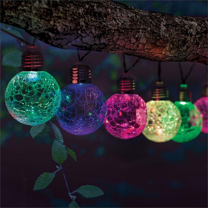 Lytworx Solar Crackle Ball Lights 10 Pack Bunnings Warehouse Ball Lights Christmas Bulbs Types Of Lighting