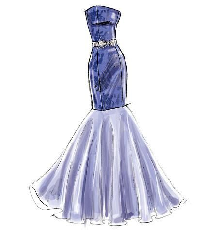 M6838 Misses Dress