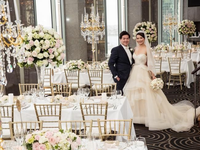 Reception Held At The Altitude Restaurant On Top Floor Of Shangri La Hotel In Sydney