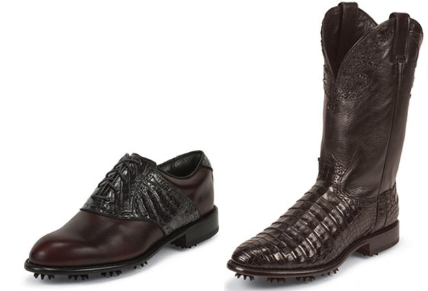 1659b68507d Wow! Justin boots makes golf shoes...ya, and golf boots...first time ...