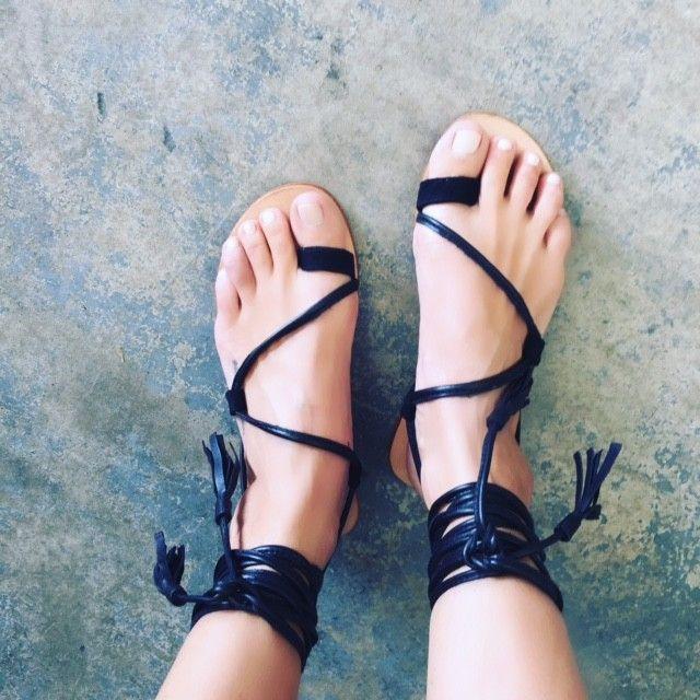 15351f0342e81 Splice X Splice Boutique The Bella Lace Up Leg Sandals- Black ...