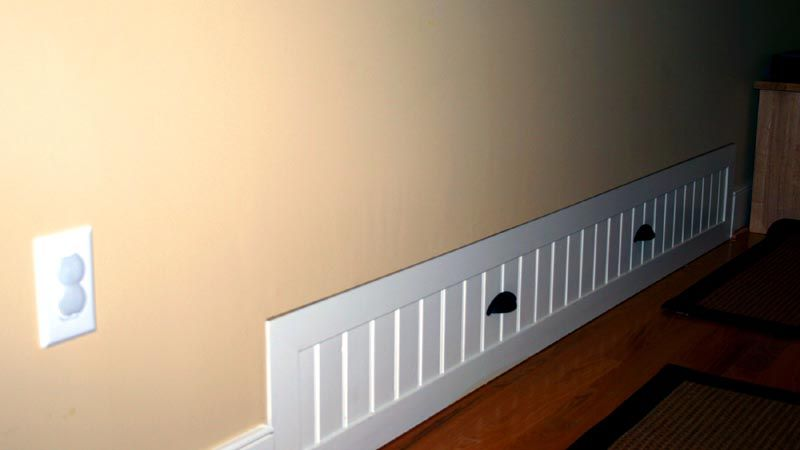 Knee Wall Bed Built Ins. Pull out from wall. Guest Quarters. Would ...