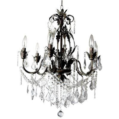 Heritage 6 Light Iron And Crystal Chandelier Crystal Chandelier Home Depot Chandelier Black Crystal Chandelier