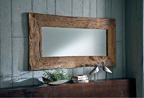 Natur unikat wandspiegel massiv teak holz spiegel altholz edel
