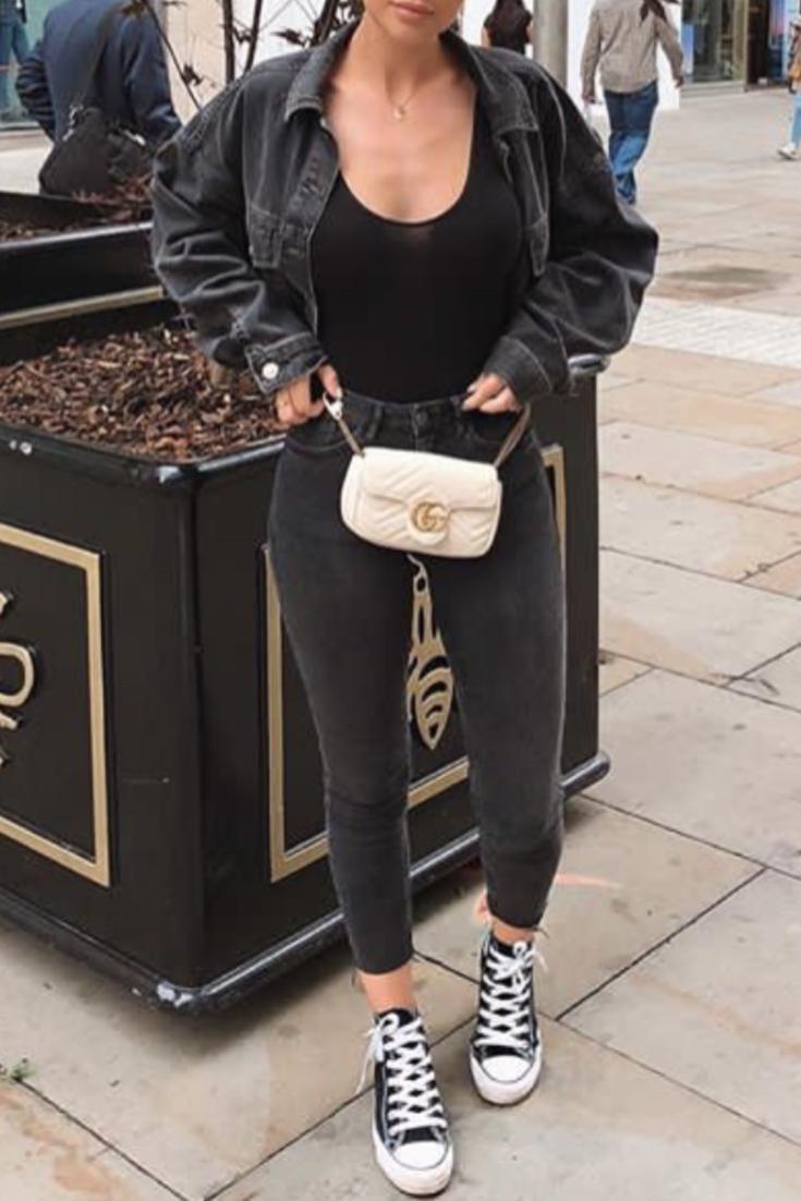 Casual NoireDes Une Veste En Tout Jean Femme Avec Mode Noir oWCxBder