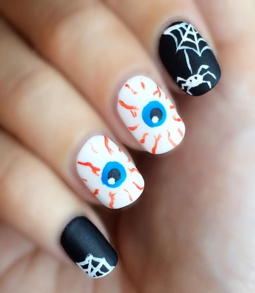 65 Creepy Nail Art Design Ideas For 2018 Halloween ...