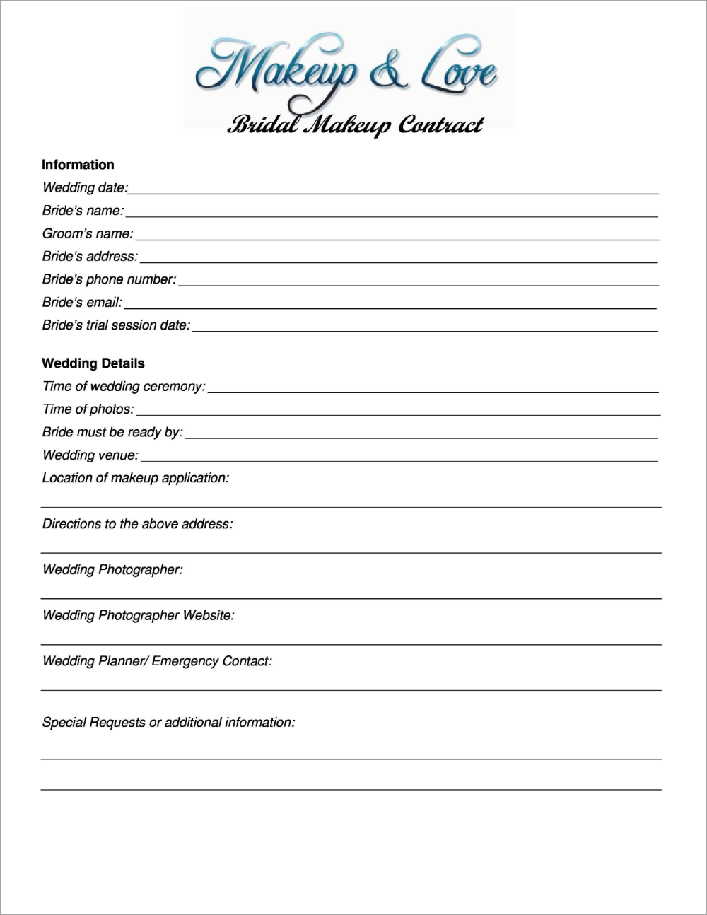 Fresh Wedding Contract Template Free Best Of Template
