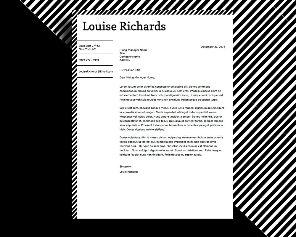 Edgy And Stylish Resume Design For Microsoft Word  Louise