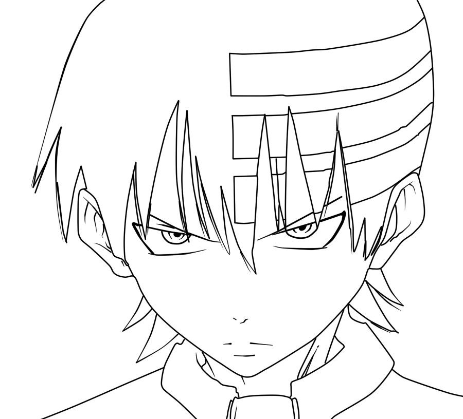 coloring pages of soul eater - photo#10