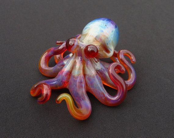 Sale Small Glass Octopus Purple Haze By Emergentglassworks On Etsy 28 00 Purple Haze Tentacle Art Beautiful Beads