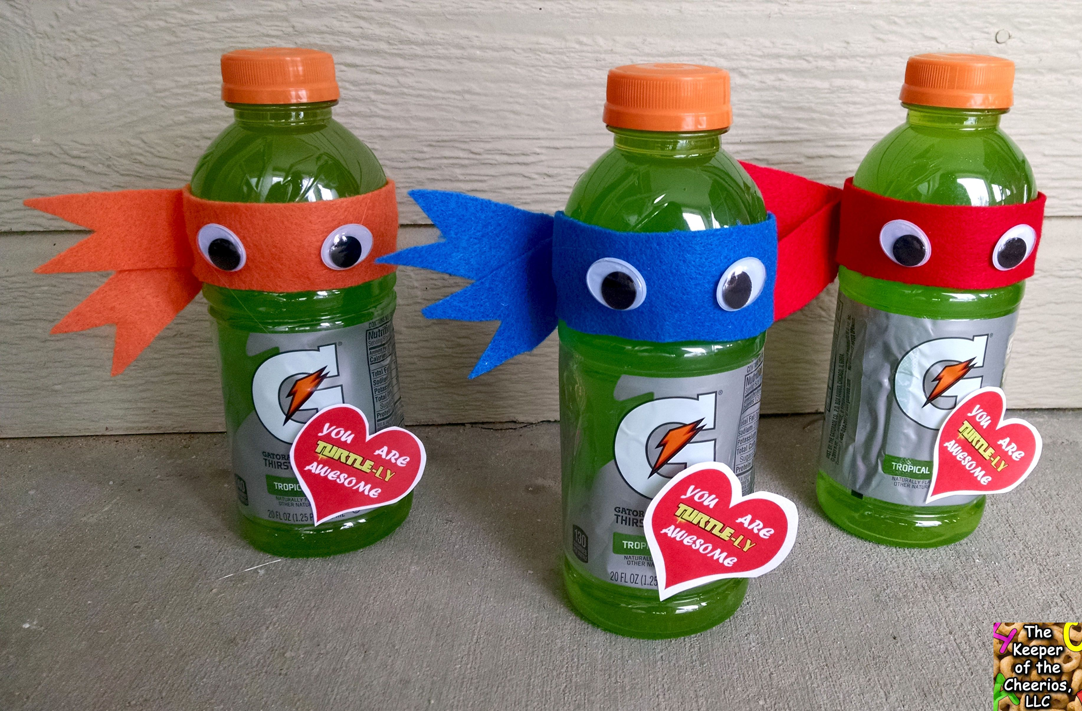 Ninja Turtle Valentine Drink Valentine Drinks Valentine Gifts For Kids Valentines Robots