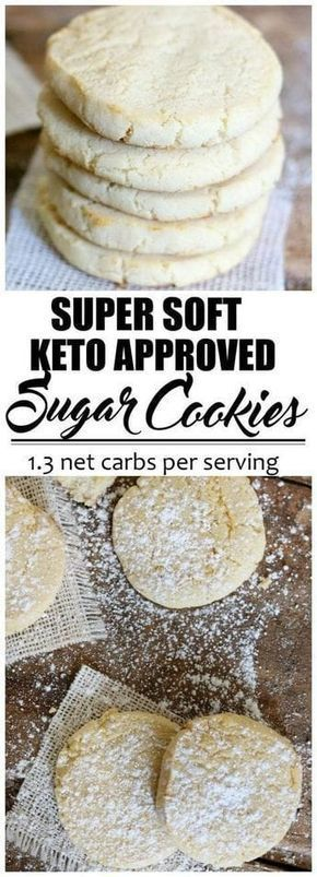 Keto Fathead Sugar Cookies #ketocookierecipes