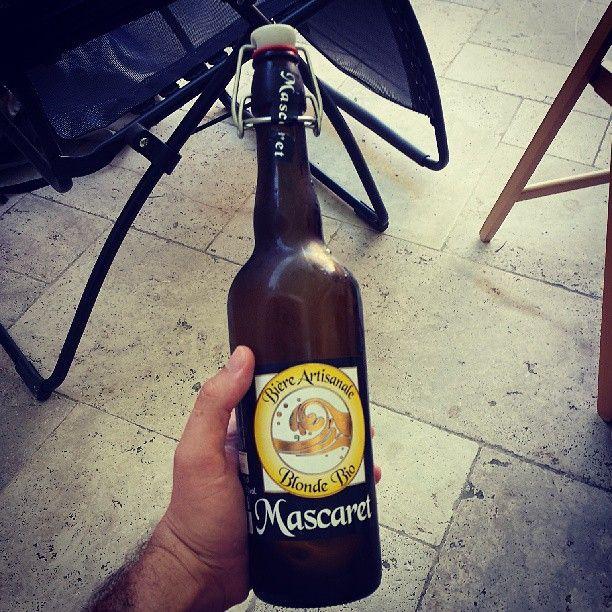 Pour finir la journée, après la version blanche, la bière artisanale blonde bio Mascaret #été #findejournée