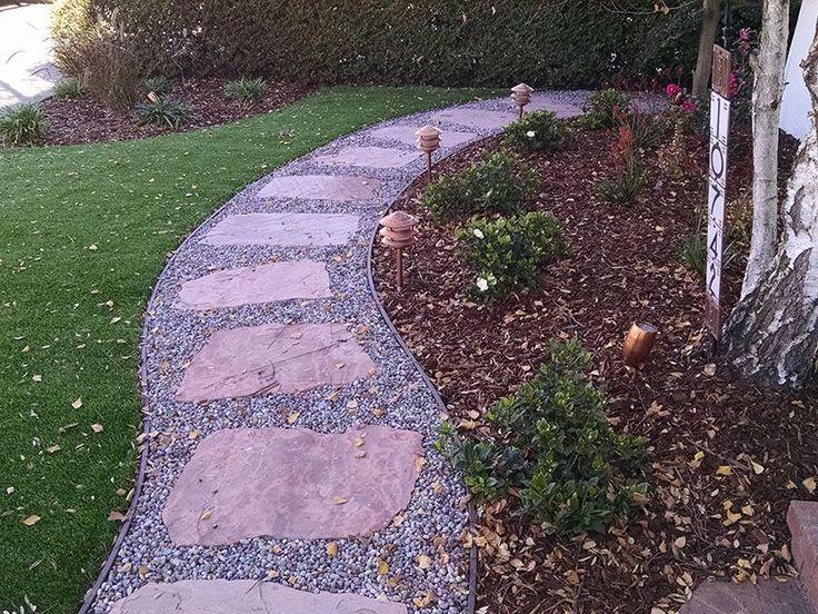 AZ Flagstone Path Mit Kies & Kunstrasen #flagstonepathway