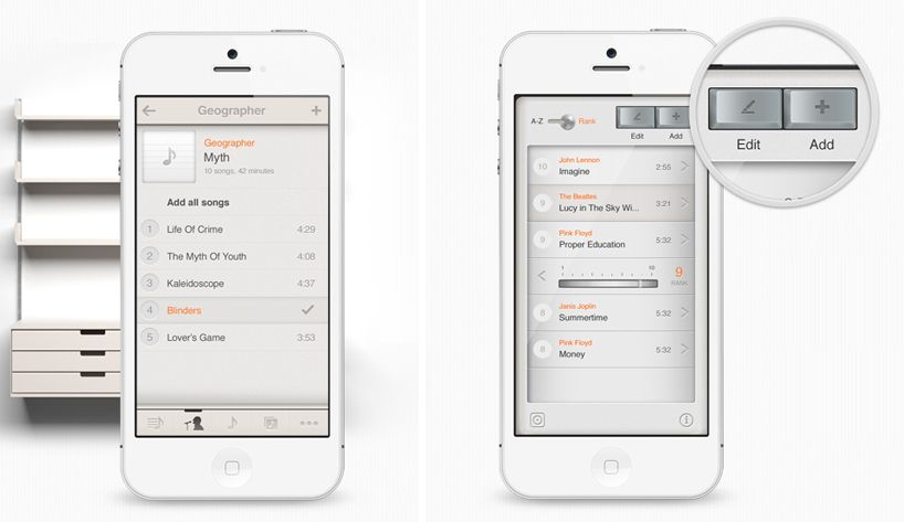 T3 music app looks like dieter rams' braun radio - designboom | architecture & design magazine