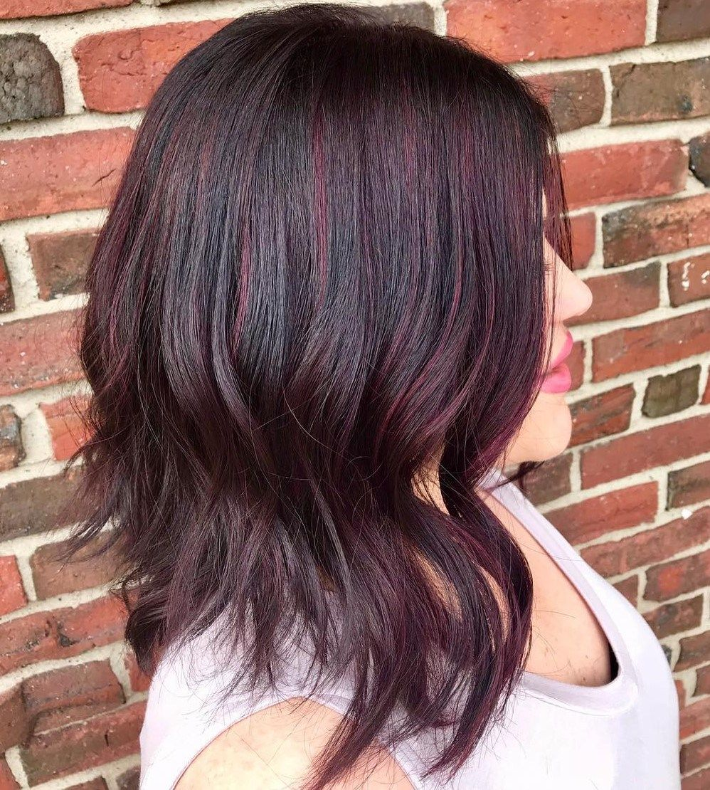 45 Shades Of Burgundy Hair Dark Burgundy Maroon Burgundy With Red Purple And Brown Highlights Burgundy Hair Hair Color Burgundy Burgundy Balayage