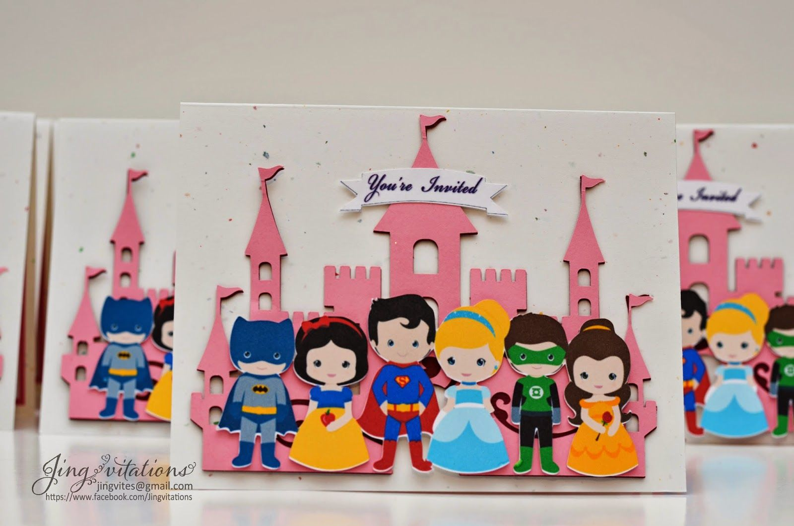 Superhero and Princess Party Invitations - Jingvitations ...