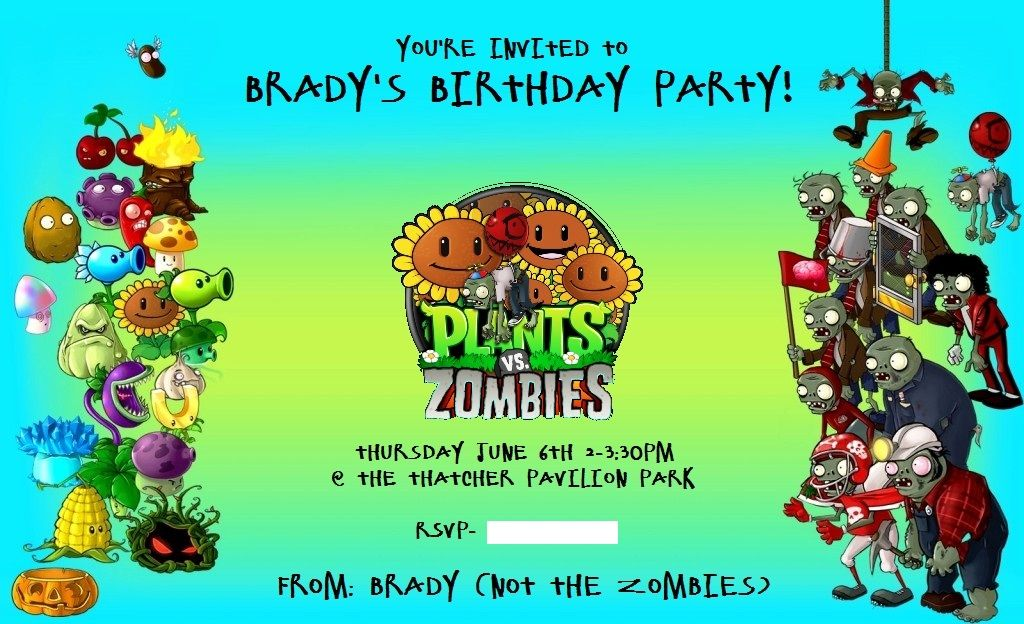 A to Z for Moms Like Me Plants Vs Zombies Birthday Party Plants