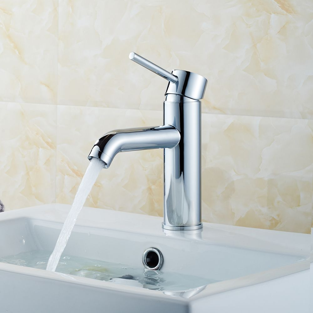 Alya Faucet Single Hole Mount Bathroom Faucet in Chrome 81H13-CHR ...