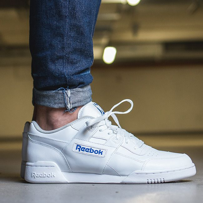 sneakers reebok blanche workout plus blanc en cuir