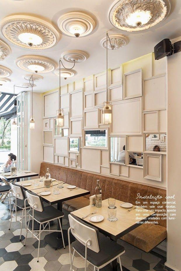 Resultado De Imagem Para Roseta De Teto Restaurant Interior Restaurant Interior Design Restaurant Decor