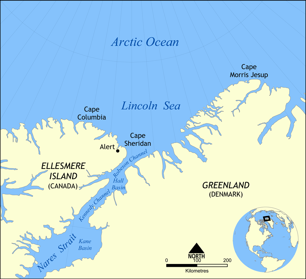 Cape Columbia is the northernmost point of land of CANADA located